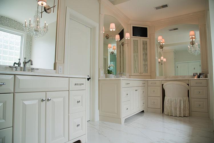 Master Bathroom with Marble Floor